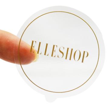 厂家直销 圆形不干胶 彩色圆点可移透明牛皮纸标签圆形封口贴定做