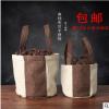 咖色普洱茶饼一提装七子饼通用 一提桶优质棉麻特产袋子促销包邮