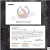 手绘清新感谢信好评卡ebay速卖通售后服务卡独角兽售后卡定制印刷