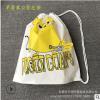 定制穿绳束口塑料袋 背包抽拉手提包装袋 LOGO可订