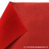 供应无纺底植绒布 红色单面尼龙毛 年画植绒布 对联灯笼植绒布