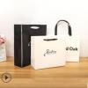 环保简约英文字母手提纸袋创意服装包装袋广告礼品购物袋定制logo