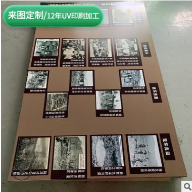 标识牌平板UV印刷雪弗板PVC板企业制度牌标识牌图案印刷定制
