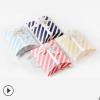 创意精品白卡纸质粉蓝色条纹枕头礼盒定做饰品包装彩盒现货批发