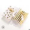 简单高档烫金白卡纸创意小礼品包装盒纸质折叠枕头纸盒定制logo