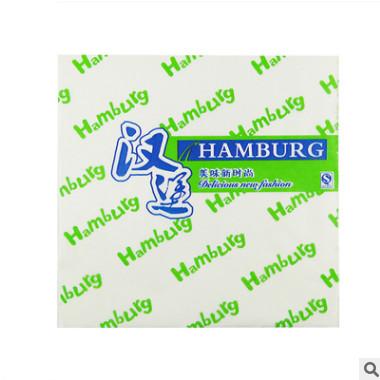 汉堡纸定做 防油防水淋膜英文汉堡纸袋定制 食品级鸡肉卷现货包邮