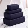 现货批发定制包装内衣袜子纸盒 黑色抽屉式礼品盒 免费设计logo