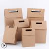 手提式牛皮纸盒茶叶包装盒零食西点盒食品包装盒牛扎糖盒点心盒子