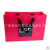 定制粉红logo设计服装礼品棉织带手提铜版纸袋 特种纸服装礼品袋