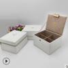 可定制厂家直销礼品盒PU皮礼品盒圆角盒掀盖式拉链礼品包装盒