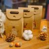复古卡通动物平安夜苹果礼盒圣诞节礼物小礼品装饰品手提袋包装盒