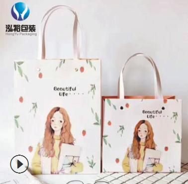 现货批发牛皮纸袋 环保材质加厚纸袋定做 购物袋服装袋定制供应