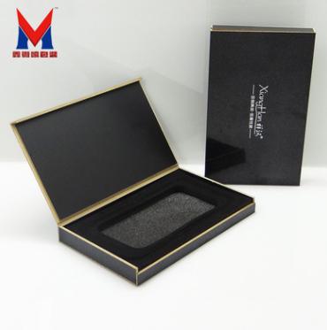 手机壳包装皮套金属边框 移动电源pvc包装黑珍珠荧光包装木盒