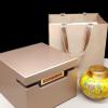 加工定制高档黑豹纹茶叶礼盒包装陶瓷金属盖储存密封罐单罐空木盒