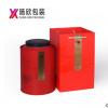 通用一斤装茶叶罐 红色铁罐 圆形包装罐双盖密封桶礼盒装马口铁罐