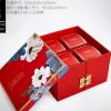 旋转双层中秋月饼包装盒酒店8粒月饼包装金色红色定制定做