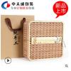 【茶叶包装木盒】竹编竹箩筐茶叶包装盒茶饼收纳礼盒茶叶空包装盒