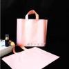 粉色服装塑料袋手提塑料袋定做手提购物童装塑料袋可加印定制