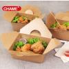 创美 一次性炸鸡盒 鸡块鸡翅盒外卖打包盒便当盒长方形饭盒可定制