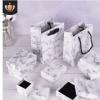 首饰礼品盒定做冷系大理石纹高档首饰包装盒纸 天地盖饰品盒