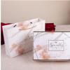 烫金大理石纹伴手礼盒喜糖盒婚庆回礼盒礼物包装袋精美糖盒批发