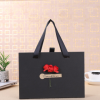精美礼物包装盒黑色手提 抽屉盒情人节礼品盒生日礼物包装盒