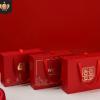 现货红色婚庆伴手礼盒 高档红色喜糖盒乔迁伴手礼盒抽屉式礼盒