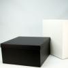 大规格通用黑白卡纸天地盖折叠渔夫帽包装盒衣帽收纳盒可订制