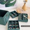 家用耳钉耳环戒指饰品收纳盒公主款欧式三层珠宝首饰盒