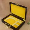 直销现货高档皮质包装盒 双扣头带五金配件皮带礼品鳄鱼纹皮盒