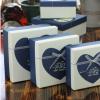 韩版小清新正方形礼盒母亲节精美礼物包装盒巧克力短款钱包礼品盒