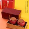 源昌隆时间味道双罐红色茶叶礼盒装 白茶散茶125g礼品茶定制