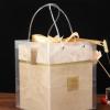 厂家直销高档香槟色结婚创意礼盒伴娘伴手礼婚礼回礼喜糖绒面礼盒