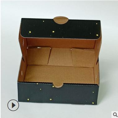 现货黑色披萨盒6-7寸披萨外卖打包盒带配套牛皮绳纸袋