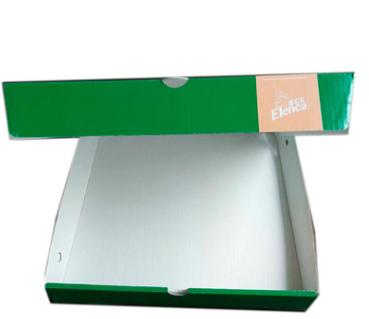 新品彩印绿色披萨盒 食品级瓦楞披萨盒 烘培打包外卖盒定制logo