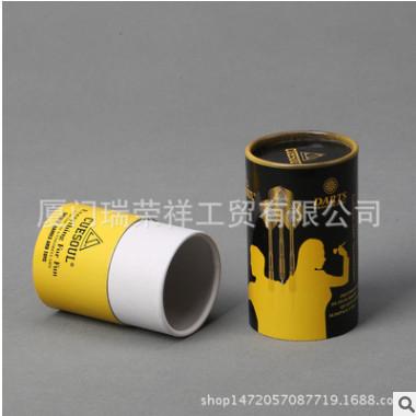 厂家定做通用外包装柱形铜版彩色纸罐 内衣T恤食品纸筒印刷定制
