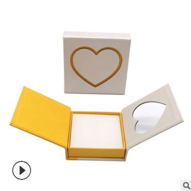 定制双开门心形首饰盒 创意爱心手链礼品盒 韩式戒指吊坠包装盒