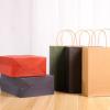 现货购物牛皮纸袋批发定做烧烤纸袋食品外卖打包手提袋定制logo