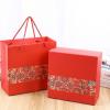 热销喜庆中国红经典白卡纸盒包装礼品盒手提袋套装 厂家直销