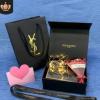 专柜圣罗兰香水礼盒Ysl礼品袋 口红盒 杨树林包装气垫纸袋香水盒