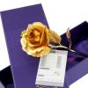 金箔玫瑰花 24金箔玫瑰花 金箔花情人节创意浪漫搭配 送礼金玫瑰