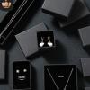 饰品盒纸首饰包装盒 黑色牛皮纸戒指耳钉手链项链首饰盒现货批发