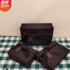 现货精美黑色蝴蝶结天地盖礼品盒高档长方形可乐包装盒生日礼物盒