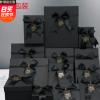 创意黑色蝴蝶结情人节礼品盒高档正方形天地盖可乐包装盒现货批发