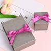 翻盖首饰盒戒指耳钉手镯项链礼品盒珠宝绒布盒蝴蝶结包装盒定做