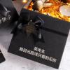 礼品盒黑色金葱磨砂蝴蝶结礼盒口红礼盒天地盖礼品盒杯子礼盒定制