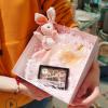 结婚伴手礼盒 ins烫金创意礼物包装盒创意粉色小清晰礼品盒现货