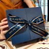 蓝色蝴蝶结礼品盒生日口红礼品包装盒伴手礼双开香水礼物盒杯子盒