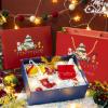 新款圣诞节礼盒天地盖围巾水杯包装盒平安夜苹果礼品盒生日礼盒