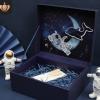 情人节礼品盒星河宇航员生日围巾杯子翻盖立体礼物盒伴手礼包装盒